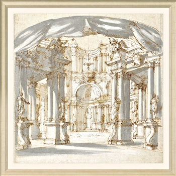 29W/29H Framed Print - Palace Courtyard