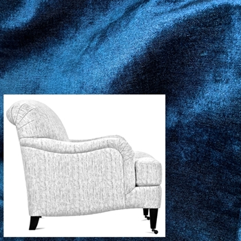 Armchair London Lapis Blue Velvet 33W/40D/34H