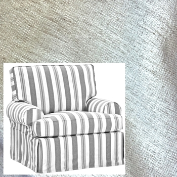 Armchair Swivel Kate White Crypton Slipcover 41W/39D/40H