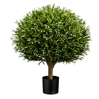 Lavender Topiary Tree 25In Globe Black Pot