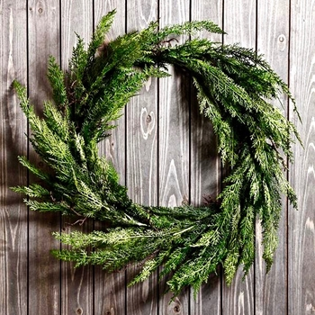 Wreath Cedar Twig 28in Green