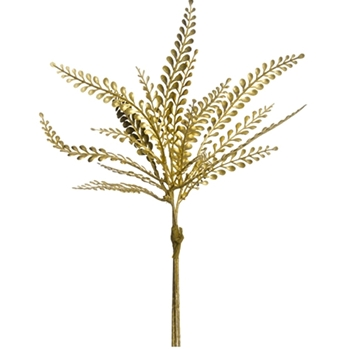 Leaf Fern Pick  Gold 11in