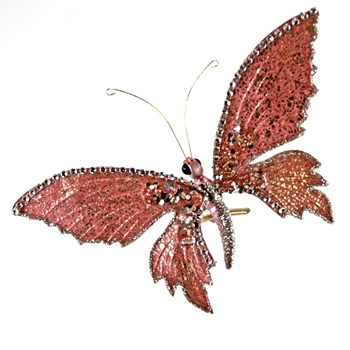 X - Butterfly Clip Raspberry Pink 8in