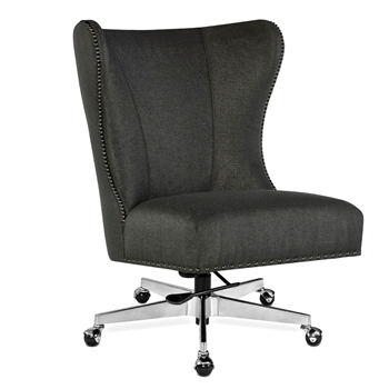 Office Chair Juliet Graphite Woven, Chrome 26W/40H