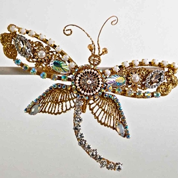 X - Dragonfly Clip Gemstones 7in