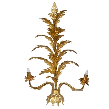 Lamp Sconce - Acanthus Gold 20W/9D/35H 2 Light