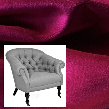 Armchair Darby Radiant Orchid 36W/36D/33H Pepper Castor Leg