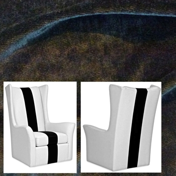 Armchair Wing Swivel Copley Graphite 36W/37D/48H