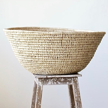 Basket Oversized Raffia Bowl 26W/11H Natural