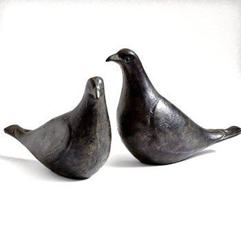 Figure - Bird Oiled Bronze Pair 9W/6W/5H