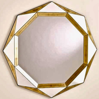 45W/45H Mirror - Madeleine Gold Leaf