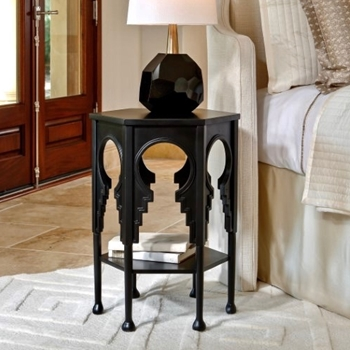 Accent Table - Jacobean 18W/25H Ebony