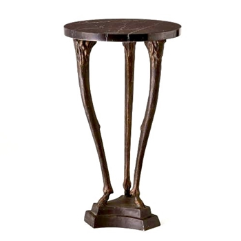 Accent Table - Fawn Leg Bronze 16W/28H