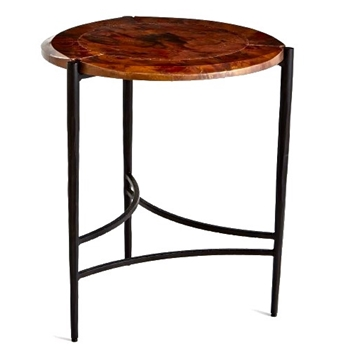 Accent Table - Arc Burnt Copper & Black Iron 21W/24H