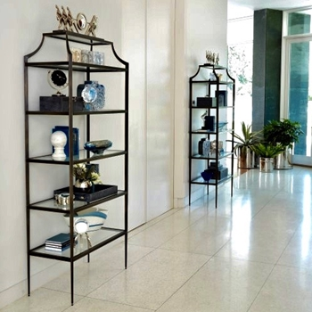 Etagere - Lescot Patina & Glass 37W/17D/81H