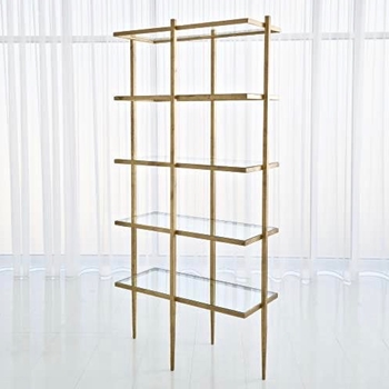 Etagere - Laforge Antique Gold Iron 38W/18D/78H