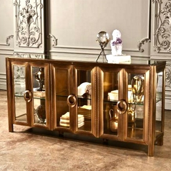 Console - Apothecary Brass 72W/16D/36H