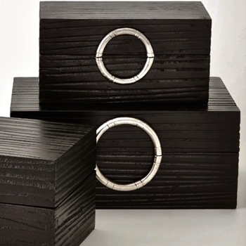 Box - Artisan Ebony & Nickel 3 Sizes