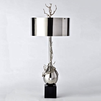 Lamp Table - Twig Bulb Nickel 17W/40H