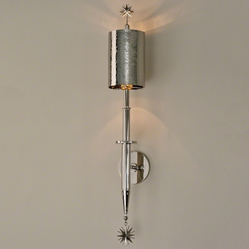Lamp Sconce - Star Arm Nickel 6W/33H/6D Hardwire