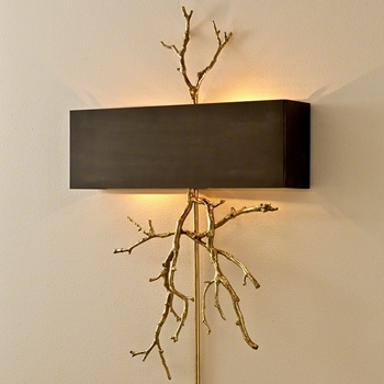 Lamp Sconce - Twig Brass 21W/31H/4D  Hardwire