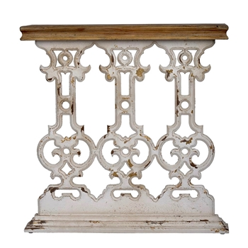 Console - Scroll Balustra White Wash 32W/12D/32H