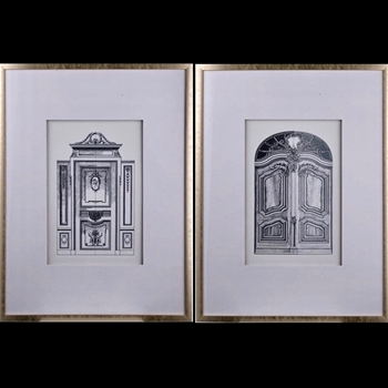 24W/31H Framed Print - Architect Door Drawings 2AST