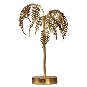 Lamp Table - Gilded Palm 19W/31H 3 Light