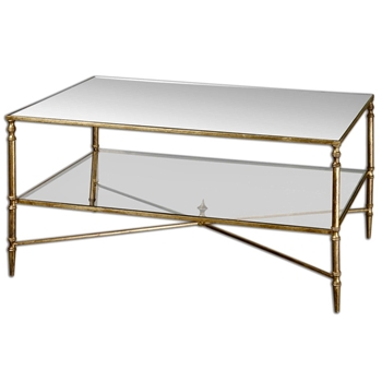 Coffee Table - Henzler Gold 38W/28D/19H