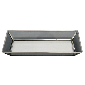 Tray - Stainless & Mirror Bevel 11W/8D