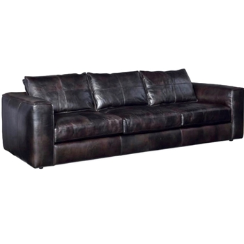 Sofa - Solace Espresso Leather 113W/44D/27Arm