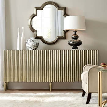 Sideboard - Pleated German Silver 4door 78W18D/35H
