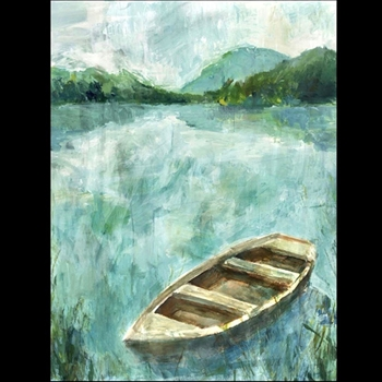 30W/40H  Giclee - A Small Boat - Sonia Noir