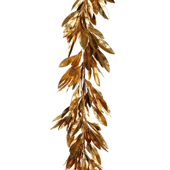 Leaf Garland - Bay Gold 72in