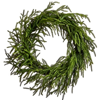 Wreath  Cedar Weeping  24in Green