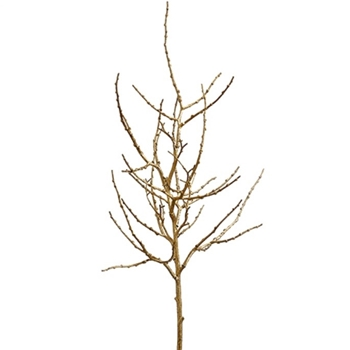 Twig Branch Bare Medium Gold 44in