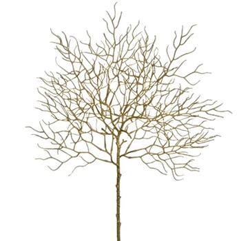Twig Fan Coral Gold 23in