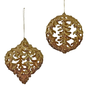 K - Globe Aspen Leaf Lace Gold 5in