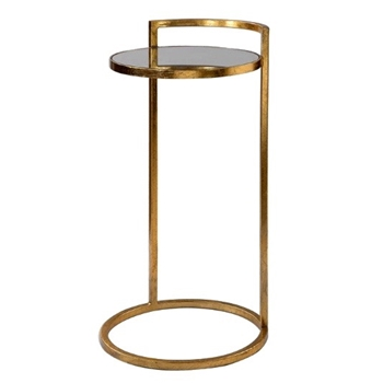 Accent Table Cailin 14W/26H Mirror & Gold