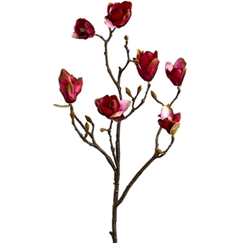 Magnolia Budding Branch Burgundy 37in