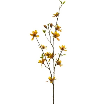 Magnolia Branch Mini Ochre Yellow 38in