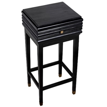 Side Table - Kitame Charcoal 17x14x35H