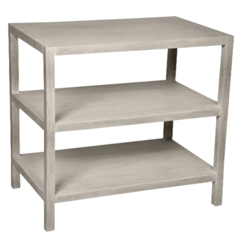 Side Table - 3Tier 28x18x26H White Washed