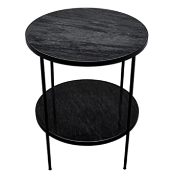 Side Table - Rivoli Black Marble 20W/30H