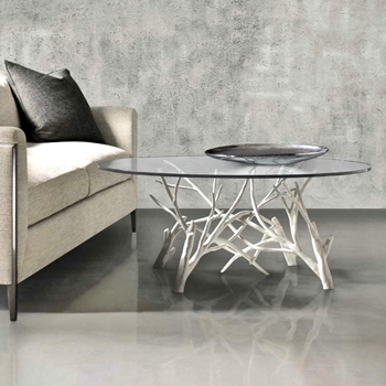 Coffee Table - Marnie Faux Bois 44W/19H