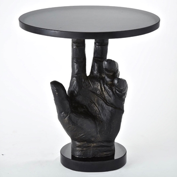 Accent Table - Hand 20x14x20H  Bronzed Iron