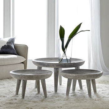 Coffee Table Set Jude Set3 35W/20H Grey Wash