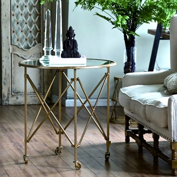 Accent Table - Gilbert Gold 30W/30H