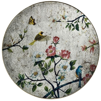 19W/19H - Mirror - Painted Chinoiserie Round