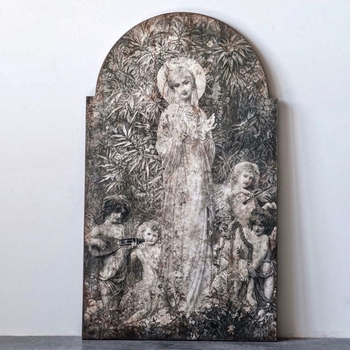 24W/40H - Panel - Garden Muse Ancient Greys